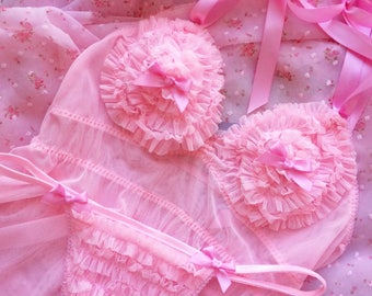 Gumdrops and Lollipops Babydoll and Thong set