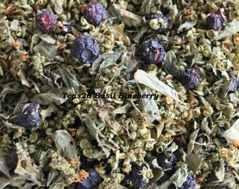 "Teas2u Organic ""Basil Blueberry"" Caffeine Free Herbal Fruit Tea Blend"