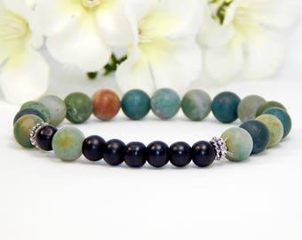 Women bracelet, frosted, agate stone bracelet women jewelry, accessories for women, bracelet handmade, charm