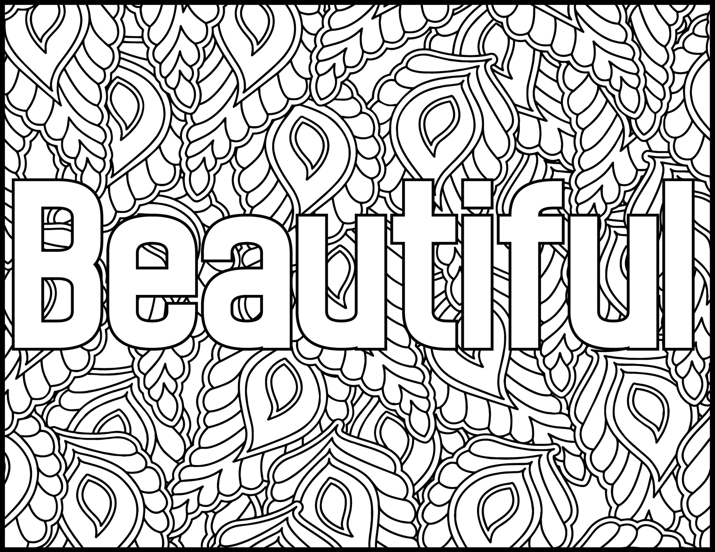 Positive Affirmations Coloring Pages For Adults Beautiful
