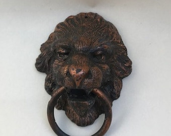 Old Lion-Head Drawer Pull