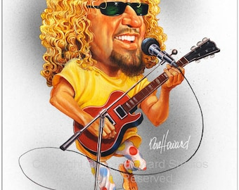 Don Howard's Depiction of Sammy Hagar Limited Edition Celebrity Caricature