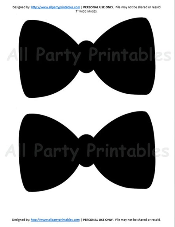 image about Printable Bow Tie named printable bowtie -