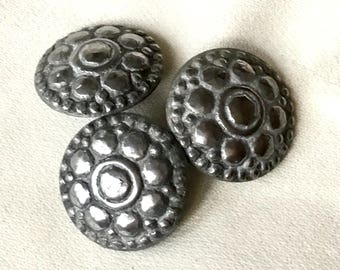 Antique Buttons Set, Steel Cut Buttons, Silver Buttons Antique, Shank Buttons Silver, Buttons For Crafts, Metal Buttons Set, Metal Buttons