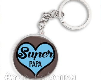 Cabochons glass 25mm #PA_BP14 dad keychain