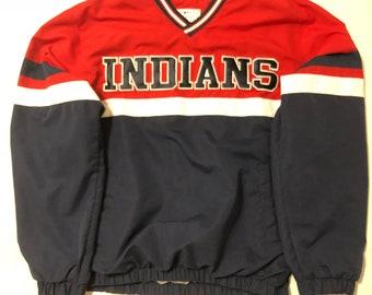 Vintage Cleveland Jacket// Indians Jacket // Threads of Strength // Cleveland Collectible// Cleveland Indians Coat Ik3Hw