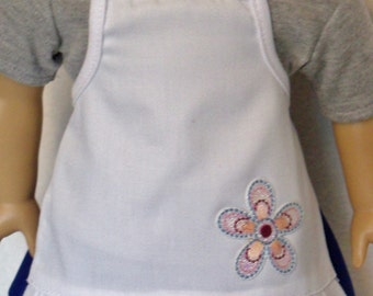 SALE/ 18 inch Doll All Purpose White Apron