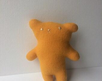 Yellow little bear softie | fort softie | mustard bear stuffed animal
