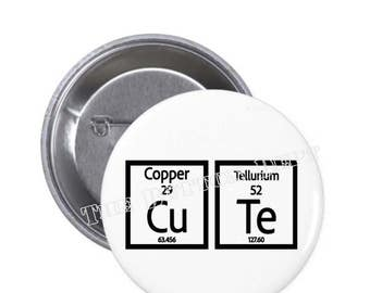 Periodic table patch etsy cu te science periodic table cutie pinback button or magnet club subject school college tech graduate urtaz Image collections