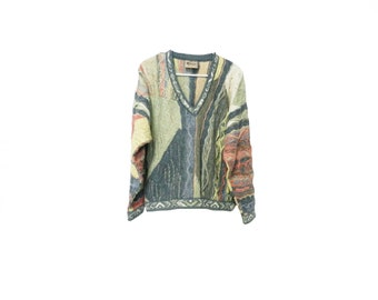 Coogi Sweater Authentic Real Coogi of Australia Vintage Biggie's Sweater Women's V Neck Pullover Small