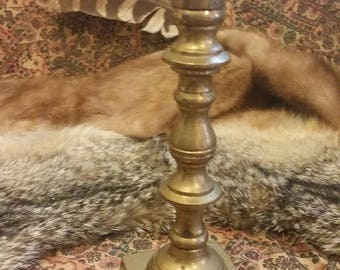 Large Solid Brass Candlestick