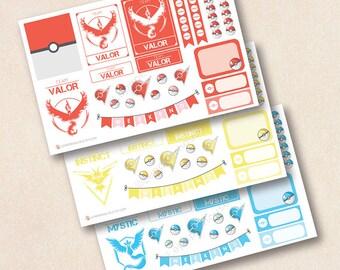 Autocollants de planificateur équipes jeu décoration feuille - Pokemon, autocollants EC, agendas