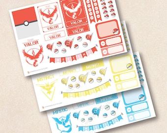 Pokemon Teams Decoration Sheet- Pokemon planner stickers, EC stickers, Personal Planners