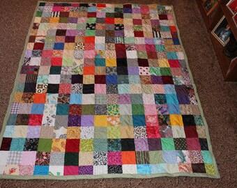 Lap Quilt - Custom Made Nostalgic Scrappy Patchwork Quilt - LAP SIZE Custom Made Quilt / Scrappy Quilt/ Patchwork Quilt/ Handmade Quilts