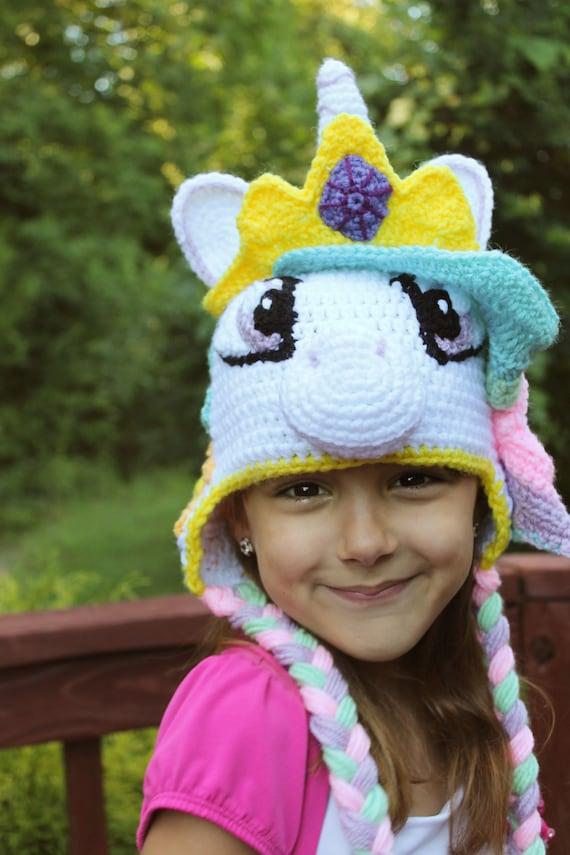 My Little Pony Princess Celestia Crochet Hat Pdf Pattern Unicorn