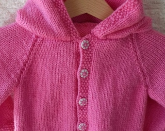 Soft Hand Knit Baby Hoodies