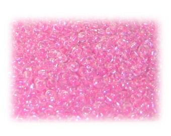 11/0 Pink Rainbow Luster Glass Seed Beads - 1 oz. Bag
