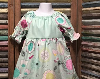 Girls dress, Girls peasant dress, Girls Easter dress, Toddler dress, Boho girl dress, Size 2, Girls spring or summer dress, #224