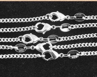 "Sterling Silver ROLO Necklace Chain (1pc) - 2mm Thick - Pick Size 16"" through 30"" - Finished Necklace - Lobster Clasp - 925 Stamped"