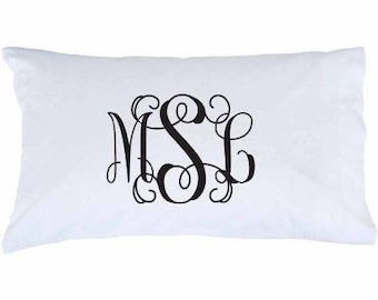 Monogrammed Pillowcases Set