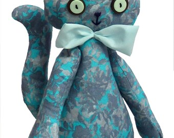 Casey soft toy digital cat sewing pattern