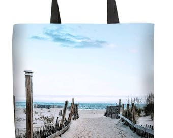 Beach Tote Bag, 18x20 Custom Photo Tote Bag, Canvas Tote