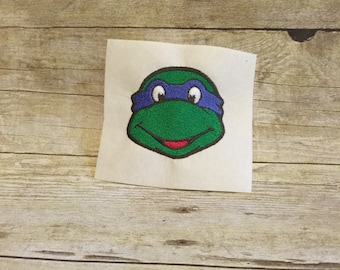Ninja Turtle Embroidery Design, Ninja Trutle Applique