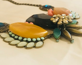 chunky funky statement necklace