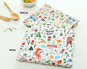 Cotton Fabric Camping in 2 Colors By The Yard