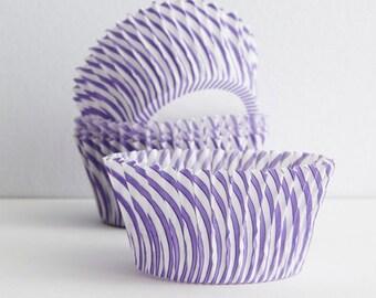 Cupcake Liners  Purple Swirl Baking Cups ( 50 )  Bright  Fun Baking Cups  Standard
