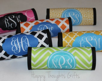 Monogrammed Luggage Handle Wrap - Monogrammed Luggage Finder - Personalized - Monogram Gift - Graduation Gift - Travel Gift - Shower Gift