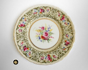Royal Doulton set of 12 dinner plates - hand painted and artist signed