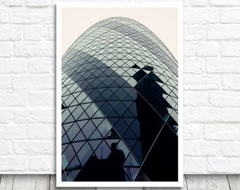 London Print, Gherkin Print, London Photography, Architecture Print, London Picture, London Photo Print, Printable Wall Art, Digital Print