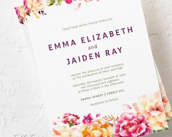 Venice in Bloom - Wedding Invitations (Style 13783)