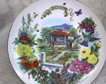 Dot Barlowe Mexican Garden collector plate