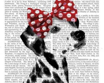 621 very beautiful dog on writing pattern 4 X 1 lunch size paper towel