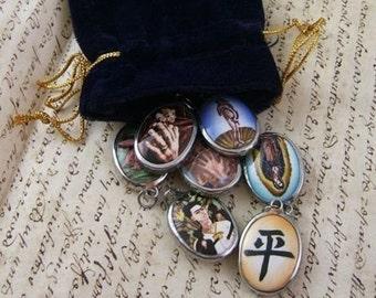 Grab Bag of 5 Different Vitreous Enamel Pendants - BARGAIN GRABBAG