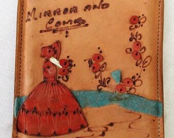 Cute Crinoline lady Comb and Mirror Set