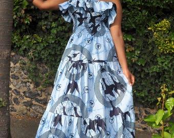 ADARA Maxi dress in a bold print