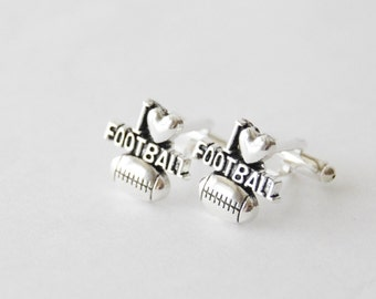 Football Cufflinks, Football Gifts, Football Lover Gifts, I Love Football Cufflinks, Sports Cufflinks, I heart Football, Sport Gifts for Men