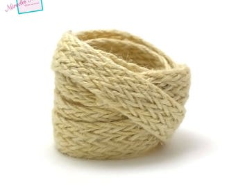 1 m braided strap rope 15 mm 004 ecru linen