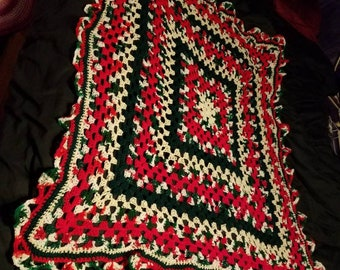Granny's Xmas snuggler throw blanket