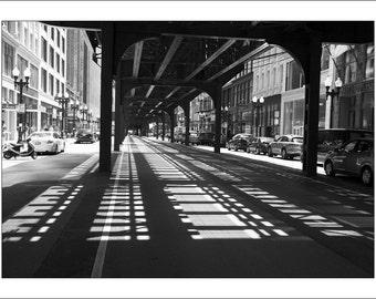 Chicago Photo Print - Black and White Photo Print - Large Photo Print - Fine Art Photography (CH01)