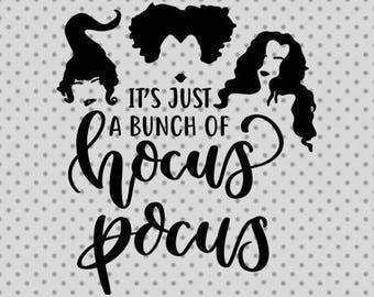 Hocus pocus svg, Halloween SVG, Halloween cricut and silhouette cameo, pumpkin svg, Witch svg