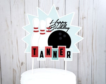 Bowling Cake Topper, Bowling Pin Cake Topper, Bowling Ball Cake Topper, Bowling Birthday, Retro Bowling Party, Vintage Bowling Party