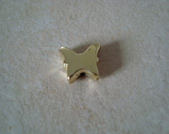 Plastic Pearl Gold Butterfly shape