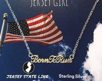 Born to Run Sterling Silver Necklace - Bruce Springsteen