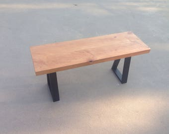 Industrial Modern Wood Bench