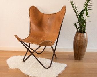 Ordinaire Butterfly Chair Cognac