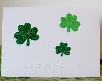 Braille St Patrick's Day card